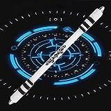 elegantstunning stylisches Grind Licht Pen fluoreszierenden Stift Spinning Set (kann nicht Schreiben) Schwarz