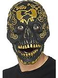 Smiffys 45092 Déguisement Homme, Masque De Bal Masqué Tête De Mort Os Gold