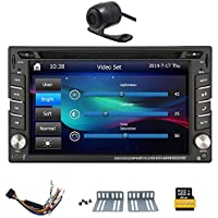 Free HD rear camera+ NEW win 8 UI car stereo radio 6.2-inch universal Car GPS cd dvd player TFT touch screen HD screen 800*480 Support Bluetooth USB/TF card User-Friendly Interface-Remote Control