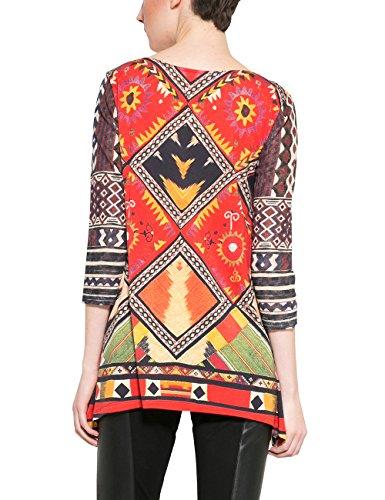 Desigual Damen T-Shirt Ts_jani Rot (Carmin 3000)