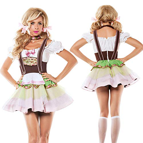 NGHJF Oktoberfest Kostüm sexy Lady Maid Kellner Cosplay bayerischen Karneval Halloween Fancy Party - Einzigartige Ideen Für Fancy Dress Kostüm