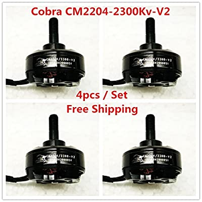 Cobra Motor CM2204-2300-V2, 2300Kv,Free Shipping 4pcs/lot For Mini Drone Racing, FPV racing, Mini quad racing