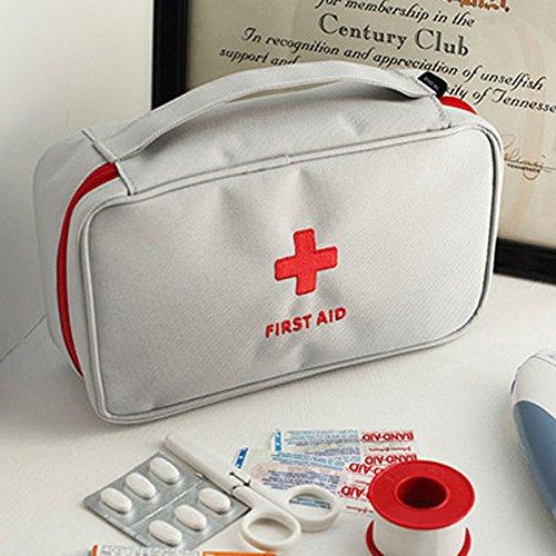 Tutoy Große Medizin Tasche Reise Erste Hilfe Notfalltasche Im Freien Camping Pille Aufbewahrungsbeutel Überlebens-Kit -Grey (Reise-pille)