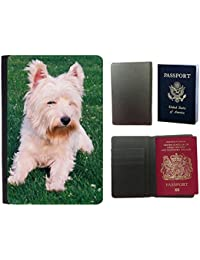 Passeport Voyage Couverture Protector // V00003977 West highland terrier // Universal passport leather cover