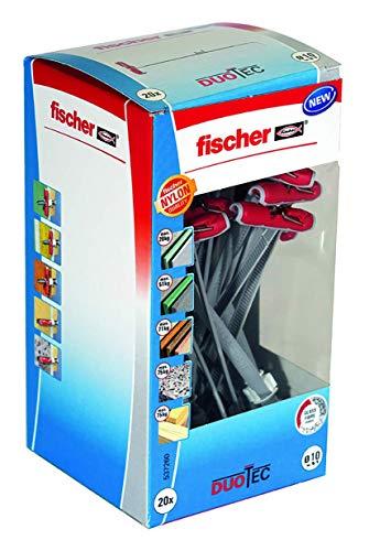 fischer 537260 Kippdübel DUOTEC 10, für Plattenbaustoffe, 20 Stück