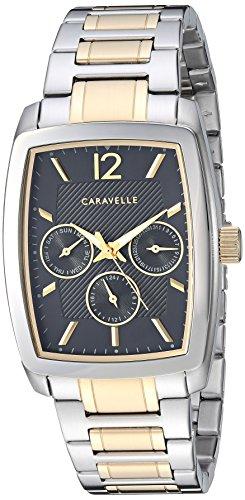 Orologio al quarzo in acciaio INOX da uomo Caravelle, colore: due tonalità (Model: 45C113)