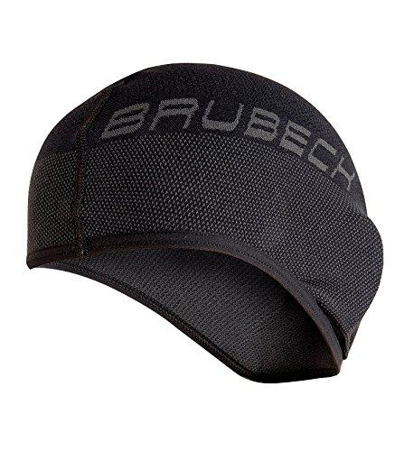 Brubeck Masque cagoule thermique fonctionnel - Moto- + Ski Balaklawa (Cagoule de ski fonctionnelle, Balaklawa, bonnet casque de moto noir/blanc) 3. 1/2 Masque Cagoule