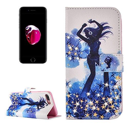 Hülle für iPhone 7 plus , Schutzhülle Für iPhone 7 Plus Fireworks Pattern Diamond verkrustet Horizontale Flip Leder Tasche mit magnetischen Wölbung Halter & Card Slots & Wallet ,hülle für iPhone 7 plu IP7P2271D