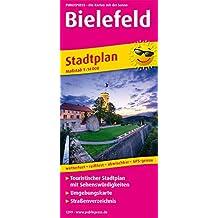 Bielefeld: Touristischer Stadtplan mit Sehenswürdigkeiten und Straßenverzeichnis. 1 : 14 000 (Stadtplan / SP)