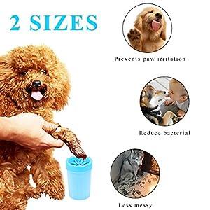 Pet Brosse De Nettoyage Tasse Chien nettoyeur de pieds Portable Chien Patte Cleaner,S