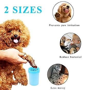 Pet Brosse De Nettoyage Tasse Chien nettoyeur de pieds Portable Chien Patte Cleaner,S (S)