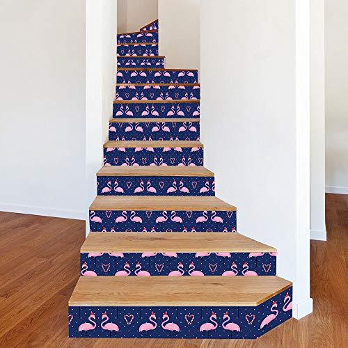 CHENZHAOL Treppenaufkleber 13 Stück Weihnachten Verkleiden Sich Mit Weihnachten Hut Dekoration Wandaufkleber DIY wasserdichte Treppe Dekorative Aufkleber 100 * 18cm