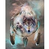 Sunshay 5D Diamond DIY Embroidery Wolf Full Diamond Painting Picture Stones Home Decor Animal