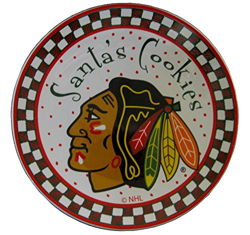 Memory Company NHL Unisex-Plätzchenteller Santa Keramik, Unisex, NHL-CBH-609, Mehrfarbig, Einheitsgröße Keramik-santa