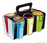 ASA 55079233 Selection Crazy Mugs Crazy Pack Becher Espresso, 6 Stück (Mehrfarbig)