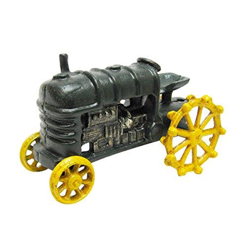 Design Toscano Bauernhof-Replika, Spielzeugtraktor aus Eisenguss