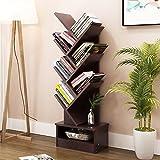 Aufbewahren & Ordnen Einfaches modernes Bücherregal-Bücherregal, das kreative Baum-Form mit Fach landet (Farbe : #1, größe : 7 floors)