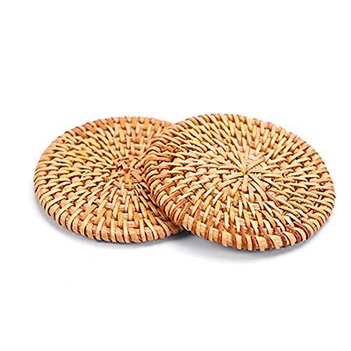 Xiton - Manteles individuales redondos ratán mesa