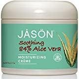 Jason Pure Natural Moisturizing Creme, Soothing 84% Aloe Vera, 4 Ounce (Pack of 3)