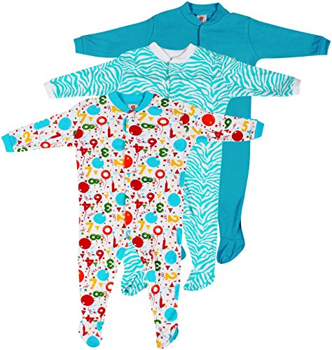 Baby Grow Full Body Suit Romper Set of 3 For Boy (Color & Print May Vary, 9-12M)