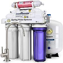Sistema de filtrado de agua iSpring 75GPD de ósmosis inversa alcalino mineral de 6 etapas,