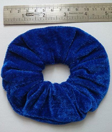 Aadya-Coletero de velours pour les cheveux (Large 26 différentes couleurs) azul real