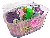 Spielzeug Arztkoffer mit umfangreichem, funktionierendem Zubehör (pink)