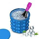 OOFAY LIGHT® Eis Würfel Hersteller Genie Revolutionär Raum Speichern Tragbar Dual-Use Silikon Schimmel Eis Eimer Getränk Halter Flaschen10.5*10.5Cm