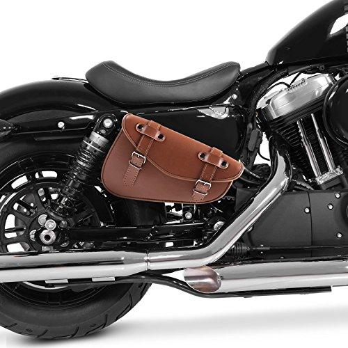 Solo Satteltasche Kawasaki VN 1500 Classic Craftride Arizona I 3l braun