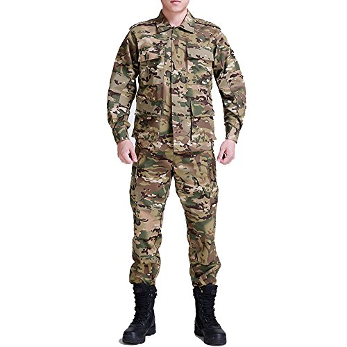 Noga Tarnanzug Kampf Regular Edition BDU Uniform Militäruniform BDU Jagdanzug Wargame Paintball Mantel + Pants (M, ACU Tarnung) - Acu Mantel