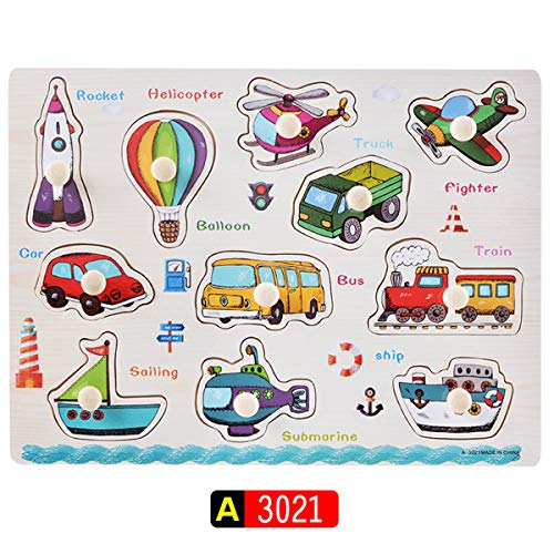 GZ HaiQianXin HolzPuzzles für Kinder Alphabet ABC Numbers Animal Fruit Vegetable Board Early Education Toy for Toddler Ages 3