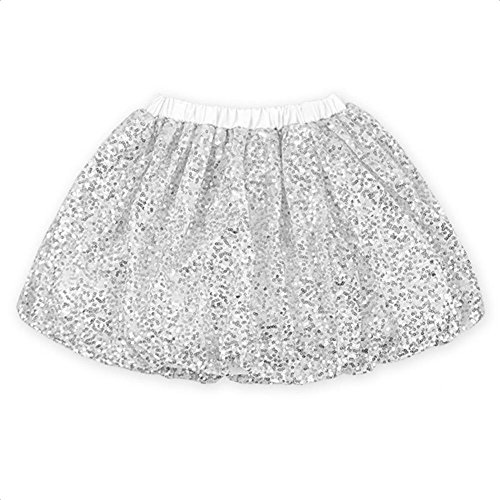 Coralup Little Girls Sparkle Sequins Ballet Tutu Skirts (12 Colors,0-6 Years)
