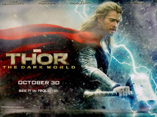 Thor The Dark World Beidseitige Filmplakat Advance Quad Poster (Chris Hemsworth) Original-Kinoplakat (76cm x 102cm) (Kino-erinnerungsstücke)