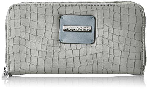 Bulaggi Damen Briggs Wallet Zip Around Geldbörse, Grau, 2x11x20 cm (Zip-around Damen Wallet)