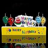 Hemore Deko-Ballon, Motiv Geburtstagstorte mit Kerze, A87, für die Dekoration von Hochzeiten, Geburtstag, Party, Abendveranstaltungen