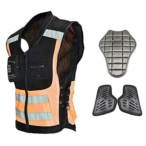 ALZHP Motocross Giacca, Moto Protezione, Spina Dorsale Protezione Professionale, per Motocross, Motociclismo, Mountain Bike, Skateboard E Snowboard,O