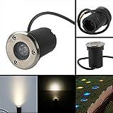 6/10/20x Set LED Bodeneinbaustrahler Treppe Boden Lampe Außenbeleuchtung (1W Warmweiß/Rund)