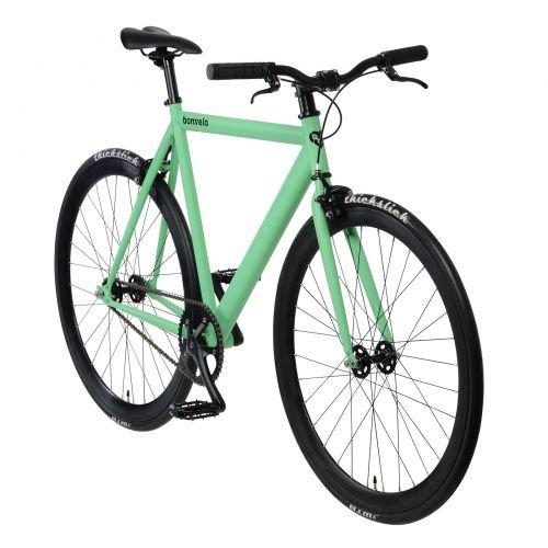 bonvelo Singlespeed Fixie Fahrrad Blizz Velvet Green (Small / 50cm für Körpergrößen von 151cm bis 161cm)