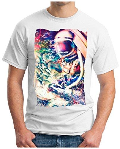 OM3 - PSYCHADELIC-ASTRONAUT - T-Shirt GEEK, S - 5XL Weiß