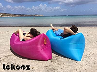 Lekeez® 2016 Summer Fast Inflatable Laybag Laysack Hangout Sleeping Sack Lounger Air Bed Sofa Hangout