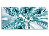 Exklusives Glasbild EG4100500707 BUBBLES DESIGN TÜRKIS 100x50cm ABSTRAKT Motiv hinter 4mm Sicherheitsglas! INKL. AUFHÄNGESYSTEM (Haftbleche & Abstandhalter) / HANDMADE / WOHNZIMMER BÜRO / LIFESTYLE FERTIGBILD!