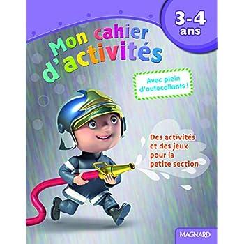Mon cahier d'activités pompier : 3-4 ans