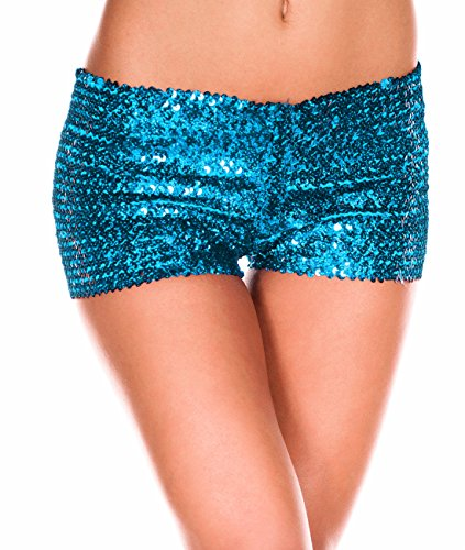 Paillettes de la mode des shorts 'Club de femmes Blue Lake