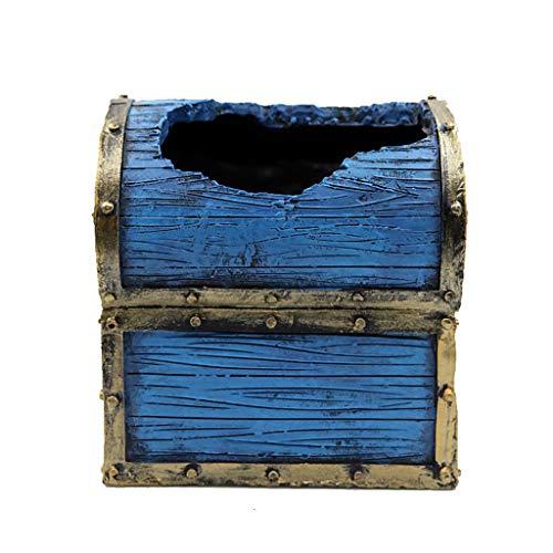 JOYKK Decorazioni per acquari in caverna di Pneumatici in Resina - Blu