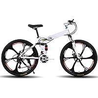 XSLY 26 Pouces Pliable VTT, vélos Adultes Route 21 Vitesse Shifter accélérateur avec 6 Cutter Roue de vélo Vélo…