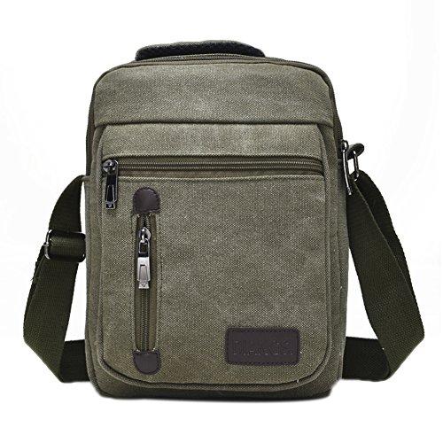 Genda 2Archer Leisure Multi-purpose Borsa a Spalla Ogni giorno Piccola borsa Messenger con Handle (Nero) Army Green