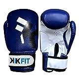 KIK PASSFORM Blau Kinder Boxhandschuhe Junior Boxsack Leder Handschuhe ,Kinder Kampftraining - Blau, 8oz