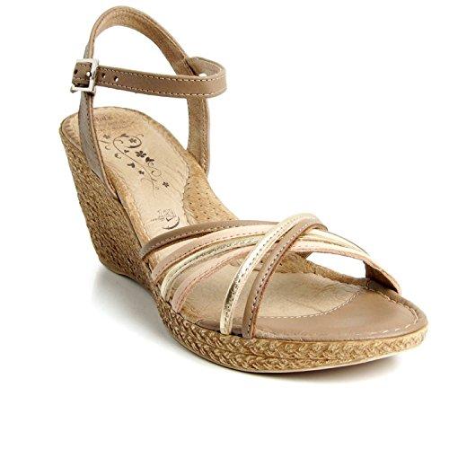 Batz GLORIA Sandales Chaussure en Cuir de Qualité Supérieure Femme Eté
