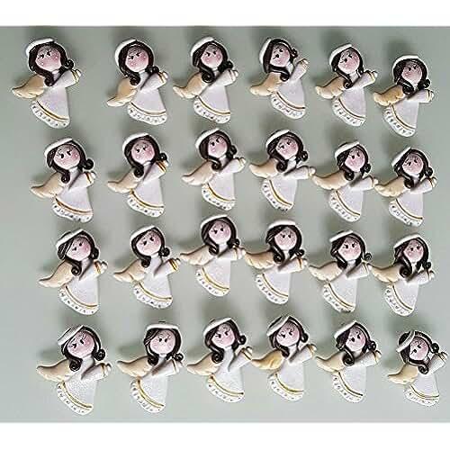 figuras kawaii porcelana fria 12 ANGELES Porcelana Fria Bautizo, Nacimiento, Baby Shower, comunion Niño, Niña handmade flavors