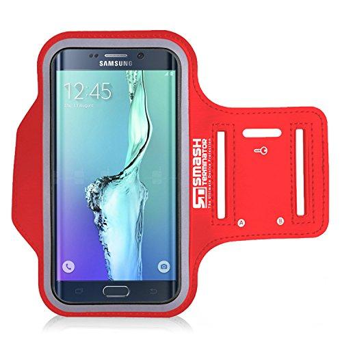Samsung Galaxy S8   S7   S6   S6 Edge Armband, SmashTerminator® Sport Armband für Samsung Galaxy Smartphones - für Sport, Laufen, Joggen, Radfahren, Übung - Sweatfreies hochwertiges Neopren mit Keyholder & Reflektorrahmen